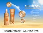 sunblock ads template  sun... | Shutterstock .eps vector #663955795