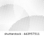 abstract halftone dotted... | Shutterstock .eps vector #663957511