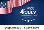 4th of july  happy independence ... | Shutterstock .eps vector #663965095
