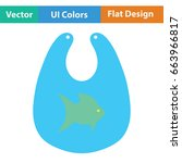 bib icon. flat color design.... | Shutterstock .eps vector #663966817