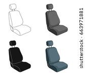 car seat.car single icon in... | Shutterstock .eps vector #663971881