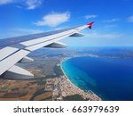 beautiful aerial view from the... | Shutterstock . vector #663979639