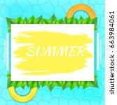 vector inscription summer on... | Shutterstock .eps vector #663984061
