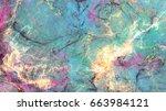 soft artistic texture. abstract ... | Shutterstock . vector #663984121