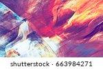 bright multicolor beautiful... | Shutterstock . vector #663984271