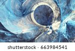 abstract bright painting motion ... | Shutterstock . vector #663984541