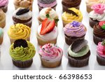 colorful cupcakes | Shutterstock . vector #66398653