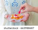 traditional turkish ramadan... | Shutterstock . vector #663988687