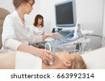 shot of a female patient... | Shutterstock . vector #663992314