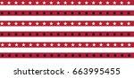 grunge vector american flag... | Shutterstock .eps vector #663995455