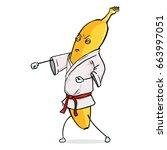 vector cartoon character  ... | Shutterstock .eps vector #663997051