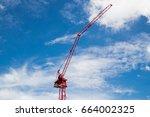 industrial construction cranes... | Shutterstock . vector #664002325