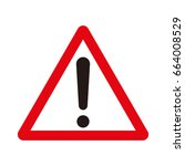 warning sign vector | Shutterstock .eps vector #664008529