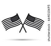 crossed flag of usa   Shutterstock .eps vector #664010695