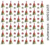 christmas pattern  | Shutterstock .eps vector #664011655