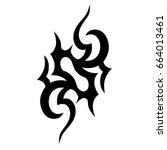 tattoo tribal vector design.... | Shutterstock .eps vector #664013461