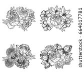 flower set | Shutterstock .eps vector #664017781