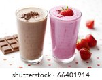 chocolate and strawberry... | Shutterstock . vector #66401914