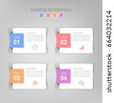 infographic template four steps ... | Shutterstock .eps vector #664032214
