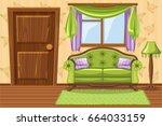 set vector cartoon green... | Shutterstock .eps vector #664033159