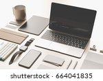 office corporate mock up design....   Shutterstock . vector #664041835
