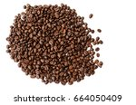 coffee beans. isolated on a...   Shutterstock . vector #664050409