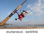 a fishing reel | Shutterstock . vector #6640546