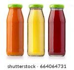 juice bottle isolated on white...   Shutterstock . vector #664064731