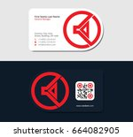 red business card template for... | Shutterstock .eps vector #664082905
