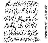 hand drawn elegant calligraphy... | Shutterstock .eps vector #664086109