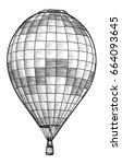 hot air balloon illustration ... | Shutterstock .eps vector #664093645