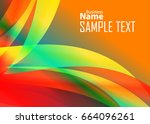 color abstract template for... | Shutterstock .eps vector #664096261