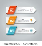 modern infographic arrows.... | Shutterstock .eps vector #664098091