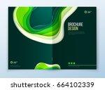 paper cut brochure design.... | Shutterstock .eps vector #664102339