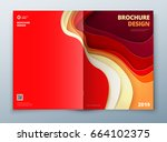 brochure cover design. paper... | Shutterstock .eps vector #664102375