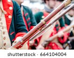 building musketeers with guns.... | Shutterstock . vector #664104004