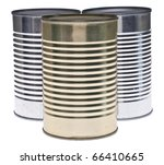 trio of tin cans isolated on... | Shutterstock . vector #66410665