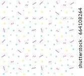 trendy background pattern... | Shutterstock .eps vector #664108264
