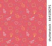 trendy background pattern... | Shutterstock .eps vector #664108291
