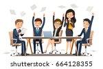creating success a business....   Shutterstock .eps vector #664128355