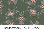 vector seamless pattern with... | Shutterstock .eps vector #664136929
