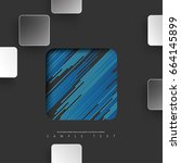 abstract template with minimal... | Shutterstock .eps vector #664145899