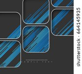abstract template with minimal... | Shutterstock .eps vector #664145935