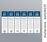 modern infographic options... | Shutterstock .eps vector #664148155