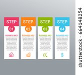 modern infographic options... | Shutterstock .eps vector #664148254