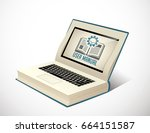 book as knowledge base   user... | Shutterstock .eps vector #664151587