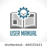 book as knowledge base   user... | Shutterstock .eps vector #664151611