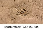Small photo of Lugworm Sand Cast on the Beach, Shallow Depth of Field