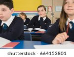 students in class   Shutterstock . vector #664153801