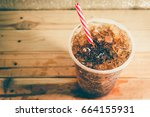 refreshing bubbly soda pop with ... | Shutterstock . vector #664155931